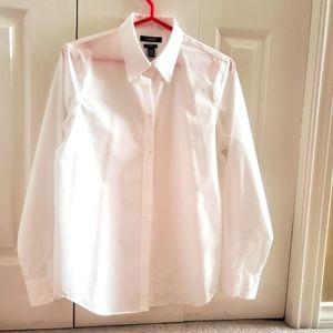 Medium Chaps Crisp White Button Up Dress Shirt